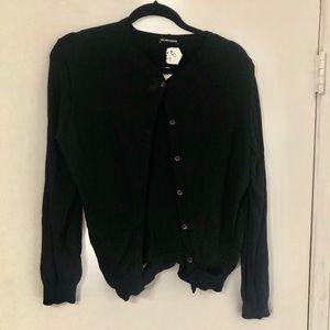 ANN DEMEULEMEESTER • Distressed Cardigan Sweater